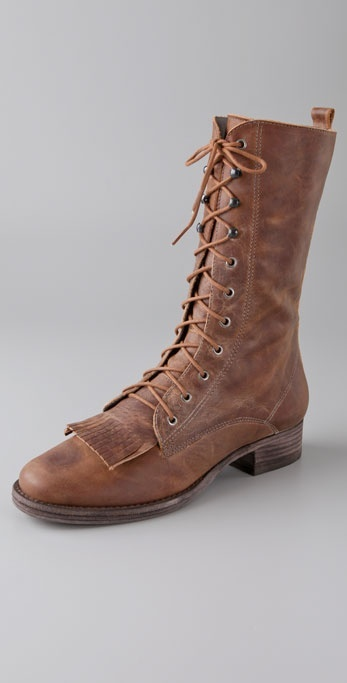 Joie Roper Combat Boots with Fringe