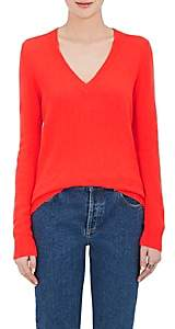 Barneys New York Women's Cashmere Loose-Knit V-Neck Sweater-Red
