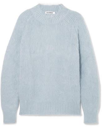 Jil Sander Mohair And Silk-blend Sweater - Light blue