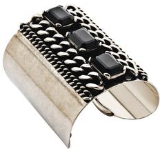 Ben-Amun Ben Amun Jet Stones and Chain Cuff