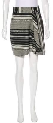 Marissa Webb Patterned A-Line Skirt