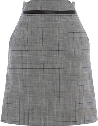 Karen Millen Checked Mini Skirt