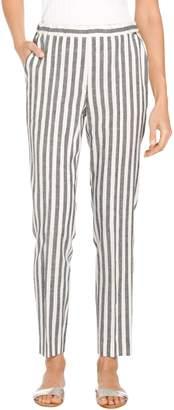 St. John Stripe Twill Skinny Cropped Pant