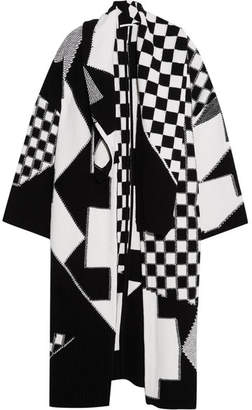 Stella McCartney - Oversized Patchwork Wool Cardigan - Black $2,045 thestylecure.com