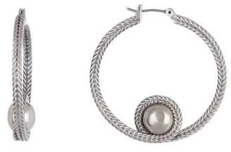Lucky Brand Chain Beaded 38mm Hoop Earrings