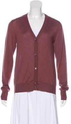 Marni Lightweight Cashmere Cardigan mauve Lightweight Cashmere Cardigan