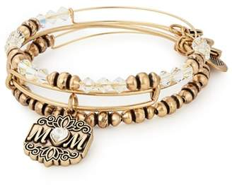 Alex and Ani Set of 3 Mom Bracelets