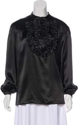 See by Chloe Ruffle-Accented Long Sleeve Blouse