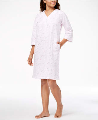 Miss Elaine French Terry Knit Short Robe