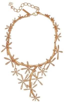 Oscar de la Renta Daisy Pave Cascading Necklace