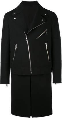 Neil Barrett zip-detail coat