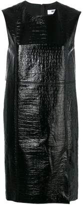MSGM crocodile effect short dress