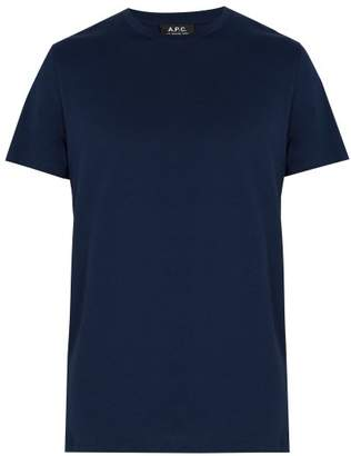 A.P.C. Jimmy Cotton Jersey T Shirt - Mens - Navy