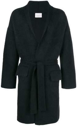 Laneus oversized belted coat