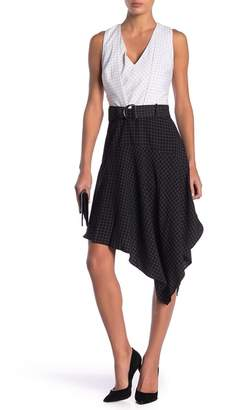 Adelyn Rae Lilah Windowpane Belted Dress