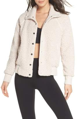 Zella Cozy Up Bomber Jacket