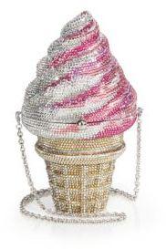 Judith Leiber Swarovski Crystal Ice Cream Cone Clutch $4,995 thestylecure.com