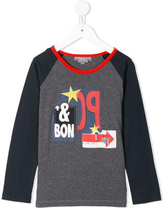 Bonpoint logo print long-sleeved T-shirt