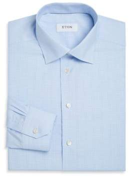 Eton Contemporary Fit Glen Plaid Dress Shirt