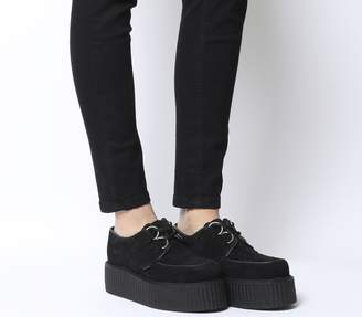 Underground Wulfrun Double Creepers Black Suede