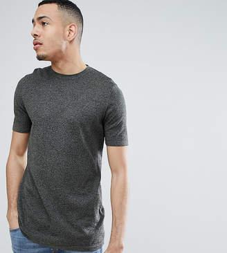 Asos DESIGN Tall Knitted T-Shirt In Khaki Twist