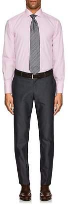 Barneys New York MEN'S MICRO-CHECKED COTTON POPLIN DRESS SHIRT
