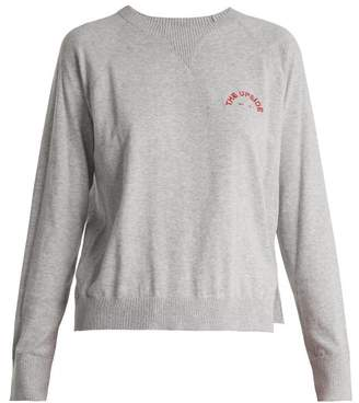 The Upside Wilder Cotton Jersey Sweatshirt - Womens - Grey