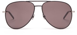 Saint Laurent Aviator Metal Sunglasses - Mens - Black