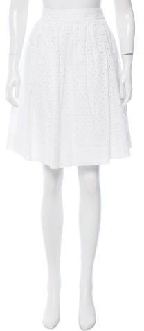 Kate Spade New York Eyelet A-Line Skirt