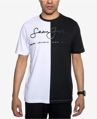 Sean John Men's Split Graphic Logo T-Shirt