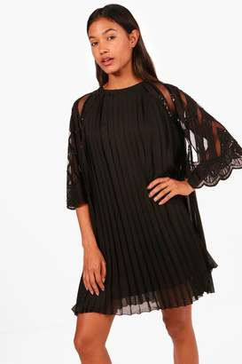 boohoo Boutique Embellished Chiffon Shift Dress