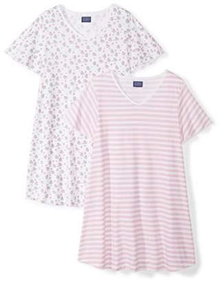 The Slumber Project Women's Shorty Short Sleeve Pajama Set X White
