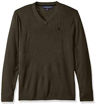 U.S. Polo Assn. Men's Solid V-Neck Sweater