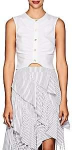 Derek Lam 10 Crosby Women's Ruched Cotton Crop Top - White