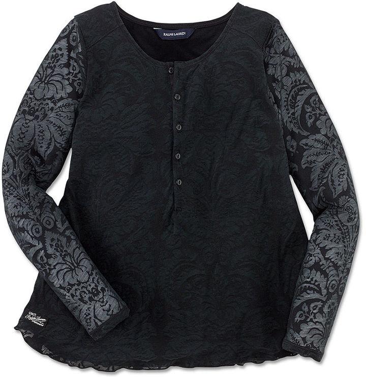Ralph Lauren Shirt, Girls Long-Sleeve Henley