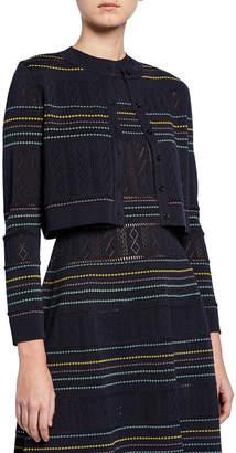 Carolina Herrera Long-Sleeve Cropped Cardigan