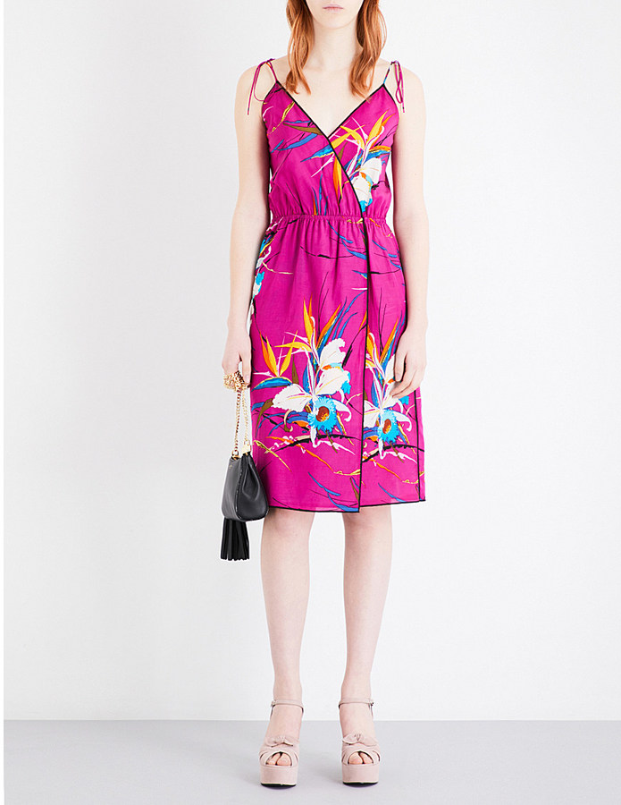 Marc Jacobs Marc Jacobs Floral-print crossover midi dress