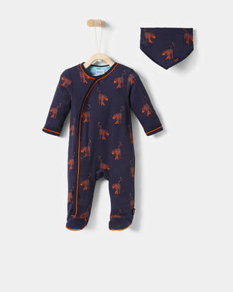 Ted Baker RAYMEN Tiger sleepsuit and bib set