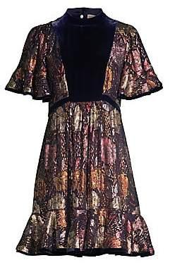 Rebecca Taylor Women's Floral Silk Velvet Dress