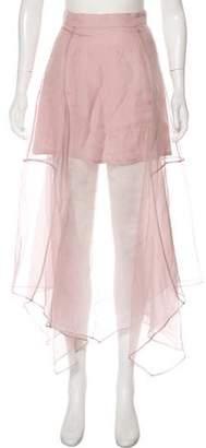 Marissa Webb Semi-Sheer Midi Skirt