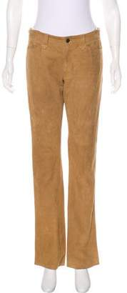 Ralph Lauren Suede Mid-Rise Pants