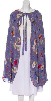 Reformation Floral Hooded Cape