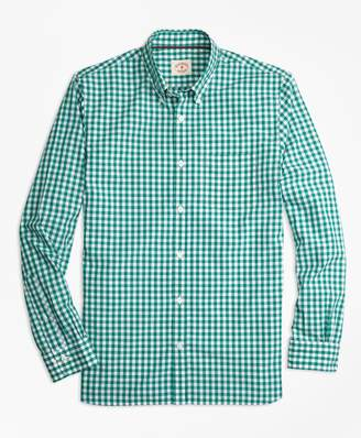 Brooks Brothers Gingham Broadcloth Sport Shirt