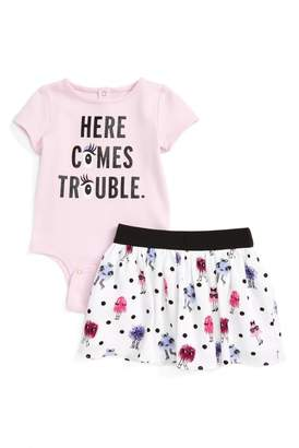 Kate Spade here comes trouble bodysuit & skirt set (Baby Girls)