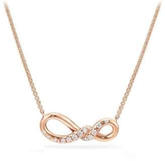 David Yurman Continuance Small Pendant Necklace With Diamonds In 18K