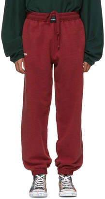 Vetements Red Oversized Inside-Out Lounge Pants