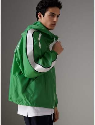 Burberry Stripe Detail Showerproof Hooded Jacket , Size: 50