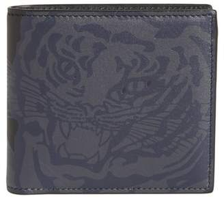 Valentino Tiger Print Leather Wallet