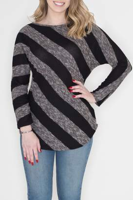 Cherish Diagonal Striped Top