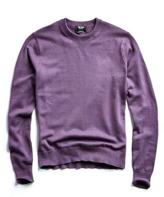 Todd Snyder Cotton Cashmere Sweater in Lavender